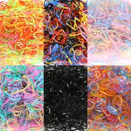 braid hair accessories Australia - 1000pcs bag Candy Color Hair Rope New Child Baby TPU Hair Holders Rubber Bands Elastics Girl Tie Braids Hair Accessories