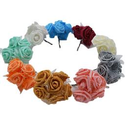 $enCountryForm.capitalKeyWord Australia - 30pcs lot 4cm PE Foam Rose Flower Bouquet Artificial Rose Flowers Handmade DIY Wedding Home Decoration Festive & Party Supplies