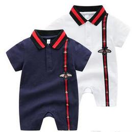 $enCountryForm.capitalKeyWord Australia - Baby Rompers Girl Short Sleeve Designer label Infant Newborn Boy Clothes Body Baby Boy Girl Jumpsuits Baby Clothing