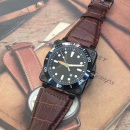 heritage wristwatch NZ - Wristwatch Br 03-92 Diver Black Vintage Mens Automatic Mechanical Heritage Limited Edition Aviation Vintage Man Watches Leather Strap Watch