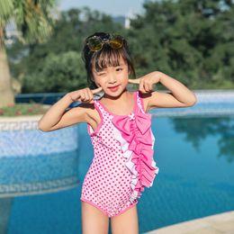 1cc93a088588b 2019 Children One-piece Suits Bikini Set Kids Baby Girls Bowknot Lovely  Princess Swimwear Swimsuit Bathing Suit Costume Clothing