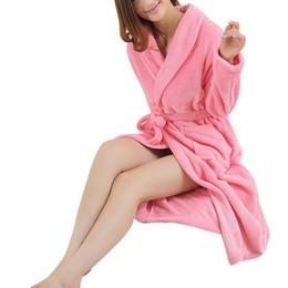 $enCountryForm.capitalKeyWord UK - Dress Lovers Men Women's Warm Super Soft Flannel Coral Fleece Long Bath Robe Mens Kimono Bathrobe Dressing Gown Robes