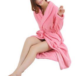 $enCountryForm.capitalKeyWord UK - Lovers Dress Men Women's Warm Super Soft Flannel Coral Fleece Long Bath Robe Mens Kimono Bathrobe Dressing Gown Robes