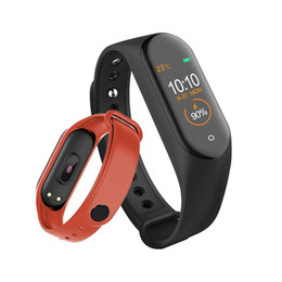 use mi smart watch UK - M4 Smart band 4 Fitness Tracker Watch Sport bracelet Heart Rate Blood Pressure Smartband Monitor Health Wristband PK mi band 4 3