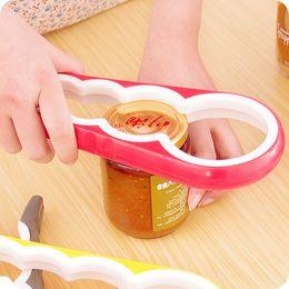 Kitchen Screws Australia - 4 in 1 Can Opener Lid Screw Jam Bottle Opener Manual Non-slip Twist Cap Bottle Launcher Opener Kitchen Gadget
