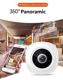 Camera Wireless Plug Australia - 3Mp 360° plug and play Max.128G SD 3D Panoramic VR P2P Wireless and wired both support IP IR camera DC5V