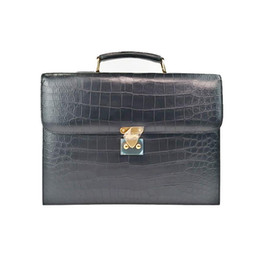business briefcases men NZ - Elegant2019 Man Really Handbag Cross Section Male Package Crocodile Belly Business Affairs Briefcase