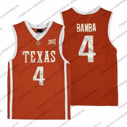 6da5f7ab01e Texas Longhorns   4 Mohamed Bamba Mo Retro Naranja Nombre Número Cosido  NCAA College Basketball Jersey Barato Buena Calidad S-3XL