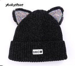 3430bcc4cfe Autumn and winter Children Woolen hat Korean style Ear warm Knitted hat Red  Yellow Gray Pink Black Baby cap 2pcs lot