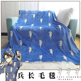 levi cosplay NZ - Halloween Japan Anime Attack on Titan Shingeki No Kyojin Levi Ackermana Unisex Cosplay Accessories Cape Soft Blanket