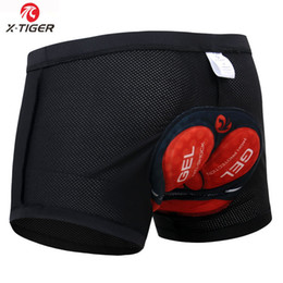 Compression Shorts Underwear Australia - X-tiger Men's Cycling Underwear Bicycle Mountain Mtb Shorts Riding Bike Sport Underwear Compression Tights Shorts 5d Padded