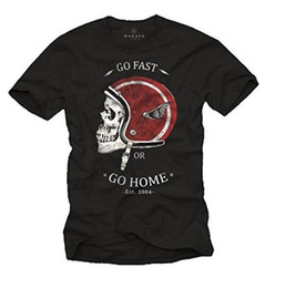 $enCountryForm.capitalKeyWord Australia - Polyester T-shirt Men's Shirt Vintage Biker Clothing - Motorcycle tshirts Helmet with Skull - Black T-Shirt