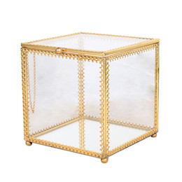 1PC Jewelry Box Transparent Hexagonal High-End Golden Geometric Storage Box For Wedding Decorating Party Jewelry Necklace from motorbike accessories manufacturers