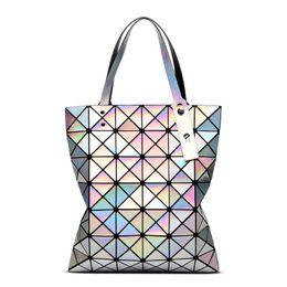 $enCountryForm.capitalKeyWord UK - Are Not Normally Caught Grid Laser Diamond Fold Package Geometry Diamond Lattice Package Single Shoulder Handbag Popular Woman Package