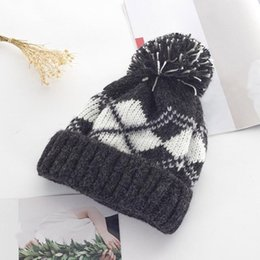 white crochet beret hat Canada - Crochet Hat Hot Warm Crochet Ski Sale Women Winter Keep Hat Braided Cap Dropship <=487g33