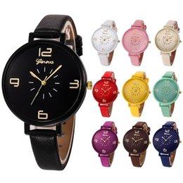 Relojes de pulsera de cuarzo analógico Relogio Feminino Reloj de pulsera de cuarzo analógico de cuero de imitación de Nueva marca de lujo para damas de Ginebra.