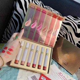 Mixing Red Purple Lipstick Australia - 6pcs=1set Tom & Ford Matte Liquid Lipstick rouge a levre Beauty Makeup lip Gloss Lipgloss maquillage Sets