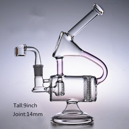 honeycomb ash catcher percolator water pipes Australia - Glass bongs water pipes quartz banger heady recycler oil rigs dab bowl turbine percolator honeycomb inline ash catcher 14mm female pink