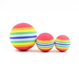 $enCountryForm.capitalKeyWord NZ - 2019 New Fashion Funny Pet Toy Baby Dog Cat Toys 4.2CM Rainbow Colorful Play Balls For Pets Products Hot sale