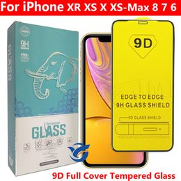 $enCountryForm.capitalKeyWord Australia - 9D Full Glue Full Cover Tempereed Glass Phone Screen Protector For iPhone XR XS X XS MAX IPHONE 7 8 6 Plus in paper bag dhl free shpping