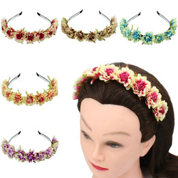 $enCountryForm.capitalKeyWord Australia - Photo studio lady flower hair band hair accessories simulation small rose seaside holiday wreath headwear spot