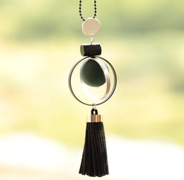 asian tassels wholesale Canada - New Luxury Jewelry Chain Long Sweater Necklaces Fashion Multicolor Jewelry Drop Black Ball Tassel Necklace