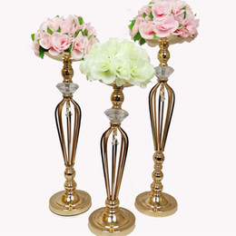 $enCountryForm.capitalKeyWord UK - Vases Candle Holders Flower Rack Stands Wedding Decoration Road Lead Table Centerpiece Pillar Candlestick For Party Event