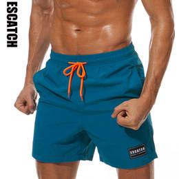 Mens White Running Shorts Australia - Mens Swimwear Swim Shorts Trunks Beach Board Shorts Swimming Short Pants Swimsuits Mens Running Sports Surffing Shorts C19040801