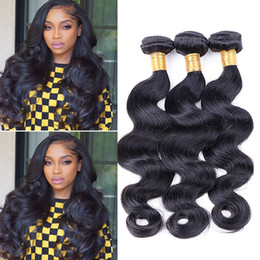 malaysian remy weave bundles Canada - Brazilian Virgin Human Hair Weave Bundles Unprocessed Brazillian Peruvian Indian Malaysian Cambodian Straight Body Wave Remy Hair Extensions