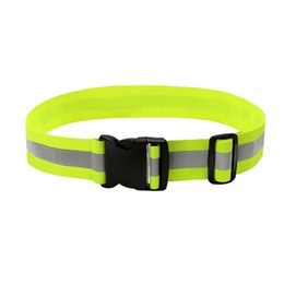 Dhl 100pcs Unisex Outdoor Cycling Safety Vest Bike Ribbon Bicycle Light Reflecing Elastic Harness For Night Riding Running Cycling
