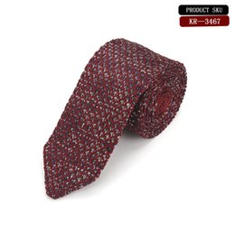hand knit patterns UK - Elegant Hand Made Knitted Silk Tie, Featuring A Silver Pattern Against A Black Background Exquisite Silk Knit Tie Worn Functions