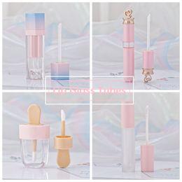 Ingrosso Ragazze Lip Gloss tubi di plastica tinta fai da te vuoto trucco pacchetto Lipgloss Liquid Lipstick Beauty Case Packaging HHAa103