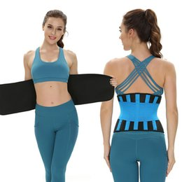 fitness waist shaper Canada - Waist Trainer Women Waist Belly Trimmer Slimming Body Shaper Belt-Sport Girdle Belt Fitness Weightlifting Belt I