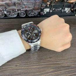 Опт 2018 Новые полнофункциональные модные мужские часы с кварцевым механизмом, черный 42-мм циферблат, корпус из нержавеющей стали 316 с минеральным стеклом hd.