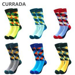 $enCountryForm.capitalKeyWord NZ - 6pairs lot Quality Mens Happy Socks Combed Cotton Diamond style Funny Socks Autumn Winter Warm Casual Calcetines Largos Hombre