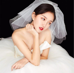bridal veils for cheap Australia - Sexy Short Tulle Wedding Veils Cheap Three Layer White Ivory Bridal Veil for Bride Wedding Accessories 3T Bridal Veil