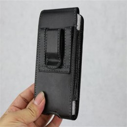 Leather beLt cLips online shopping - Universal Sport Leather Holster Belt Clip Phone Case Cover Pouch For Iphone X XR XS MAX Plus Samsung Huawei