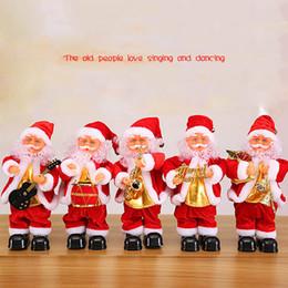 $enCountryForm.capitalKeyWord Australia - Hot Sale Cute Santa Claus Dancing Singing Music Toy Plush Christmas Dolls Electric Toys Saxophone Guitar D11