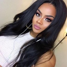 glueless lace wigs for black women Canada - Glueless Full Lace Wigs Virgin Brazilian Natural Wavy Human Hair Wig Bleached Knots Lace Front Human Hair Body Wave For Black Women