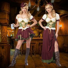 $enCountryForm.capitalKeyWord Australia - Women Designer Costumes Clothing Womens Cosplay Dresses German Oktoberfest Plaid Clothing Women Beer Luxury Dress