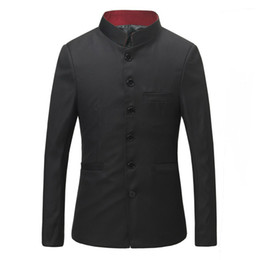 Chinese  Japanese Style Uniform Men Red Stand Collar Tunic Suit Jackets Free Shipping manufacturers