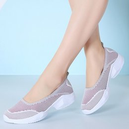 $enCountryForm.capitalKeyWord Australia - Women Flats Loafers 2019 Summer Slip On Breathe Fly Knit Mesh Outdoor Walking Sneakers Ladies Fashion Chic Ballet Flat Shoe