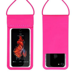 Girls cell phones covers online shopping - PU Waterproof Mobile Phone Case For iPhone X Xs Xr Samsung Clear PVC Sealed Underwater Cell Smart Phone Dry Pouch Cover Retail