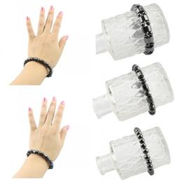 $enCountryForm.capitalKeyWord NZ - Free DHL Fashion Charm Black Magnetic Hematite Bracelet Trendy Bracelet for Men Women Healthy Bracelet Jewelry Accessories D411Q A