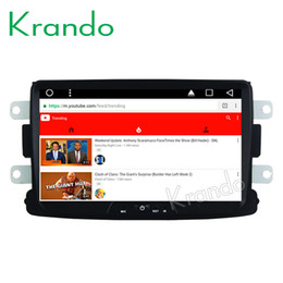 "$enCountryForm.capitalKeyWord NZ - Krando Android 8.1 8"" Big Screen Full touch car Multimedia system for Renault Duster Logan Sandero navigation player gps BT wifi car dvd"