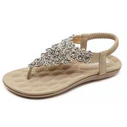 Colour heels online shopping - 2019 New crystal Fashion Women Sandals Thong Flip Flops Women Summer shoes Beach sandals colour