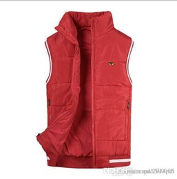 korean men down vest Canada - Winter and autumn jacket down jacket, Korean version, sleeveless vest, thick and warm, warm vest for men