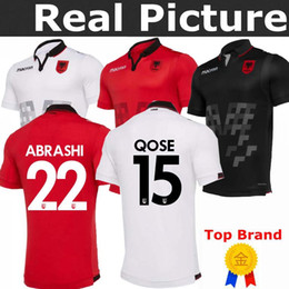 08cf157566f 2019 2020 Republic of Albania Soccer Jerseys HYSAJ XHAKA Custom 19 20  Albania Home Red Away Football Jersey Shirt