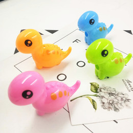 $enCountryForm.capitalKeyWord Australia - Supplies whole series of products for schools and office lovely animal little dinosaur pencil sharpeners 48pcs lot 4 colors mixed