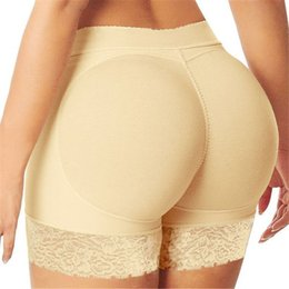 Air Pants Australia - Women Sexy Seamless Lace Safety Shorts Boxer Plus Size Female Panties Shorts Pants Shaper Underwear Hips Pads With Air Cushion